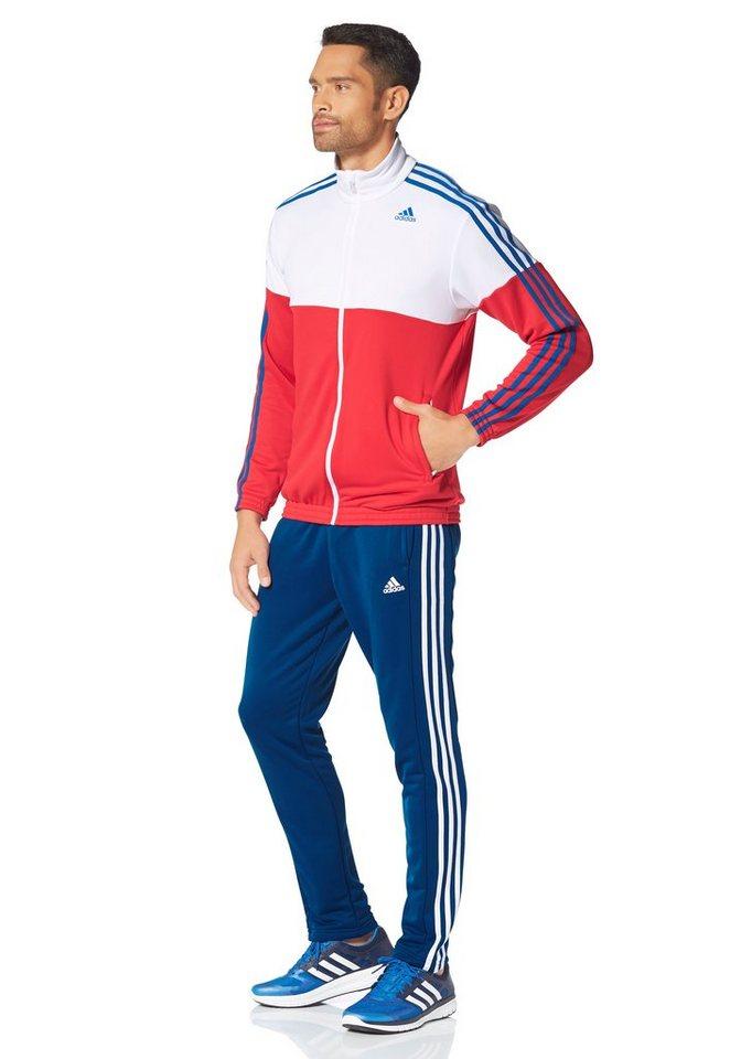 adidas Performance TRACKSUIT TRAIN KNITTED Trainingsanzug in Rot-Weiß