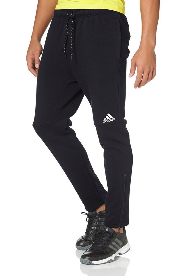 adidas Performance ESSENTIALS LINEAR 3S LOW-CROTCH TAPERED PANT Jogginghose in Schwarz