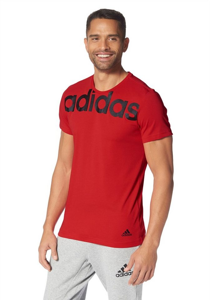adidas Performance LINEAR TEE T-Shirt in Rot