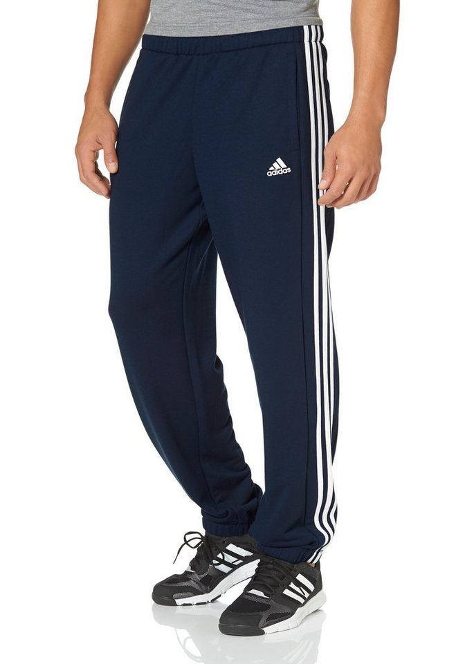 adidas Performance ESSENTIALS 3S PANT CH FRENCH TERRY Jogginghose in Marine-Weiß