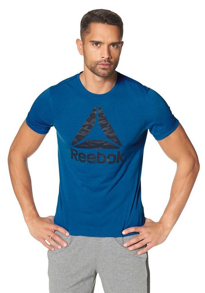 Reebok Workout Ready Supremium Big Logo Tee T-Shirt in Blau