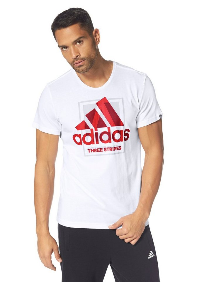 adidas Performance COUNTRY LOGO TEE T-Shirt in Weiß