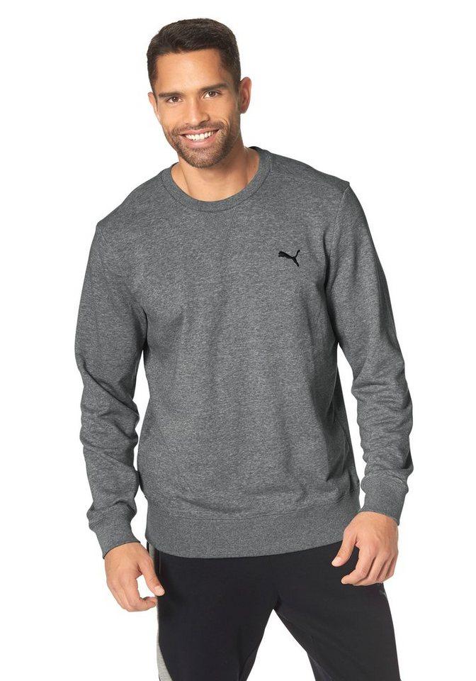 PUMA ESS CREW SWEAT Sweatshirt in Grau-Meliert