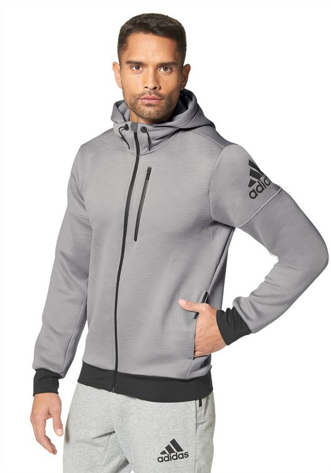 adidas Performance DAYBREAKER HOODIE Trainingsjacke in Grau-Meliert