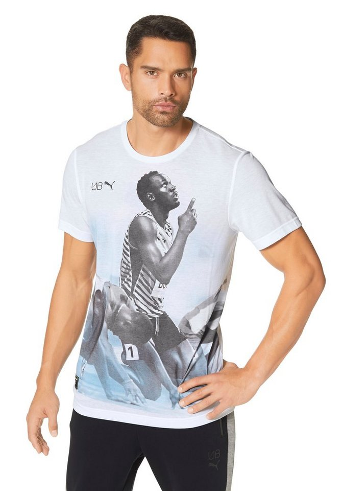 PUMA USAIN BOLT GRAPHIC TEE T-Shirt in Weiß