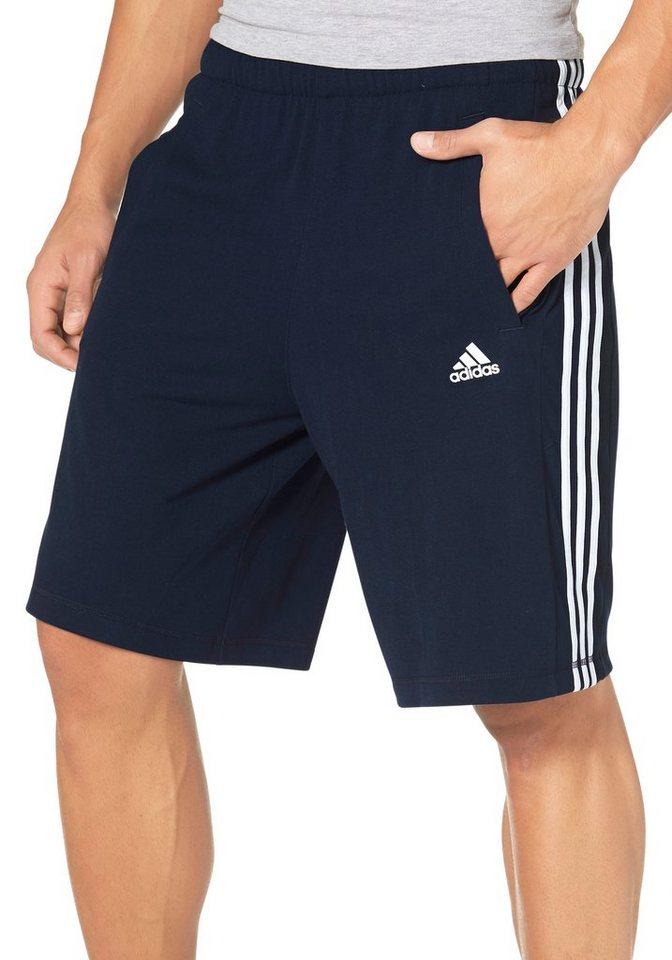 adidas Performance Shorts »ESSENTIALS THE SHORT« in marine-weiß