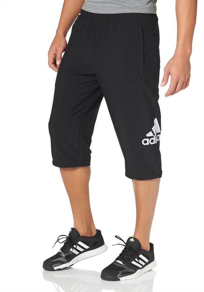 adidas Performance ESSENTIALS LOGO 3/4 PANT WOVEN 3/4-Sporthose in Schwarz