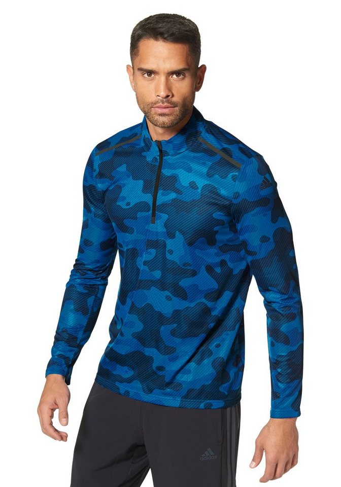 adidas Performance CLIMA365 LONGS-SLEEVE TEE Funktions-Langarmshirt in Blau-Tarnfarben