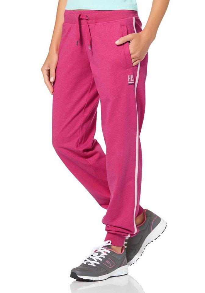 H.I.S Jogginghose in Pink-Weiß