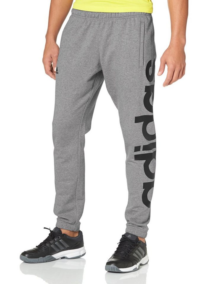 adidas Performance ESSENTIALS LINEAR PANT TAPERED FRENCH Jogginghose in Grau-Meliert