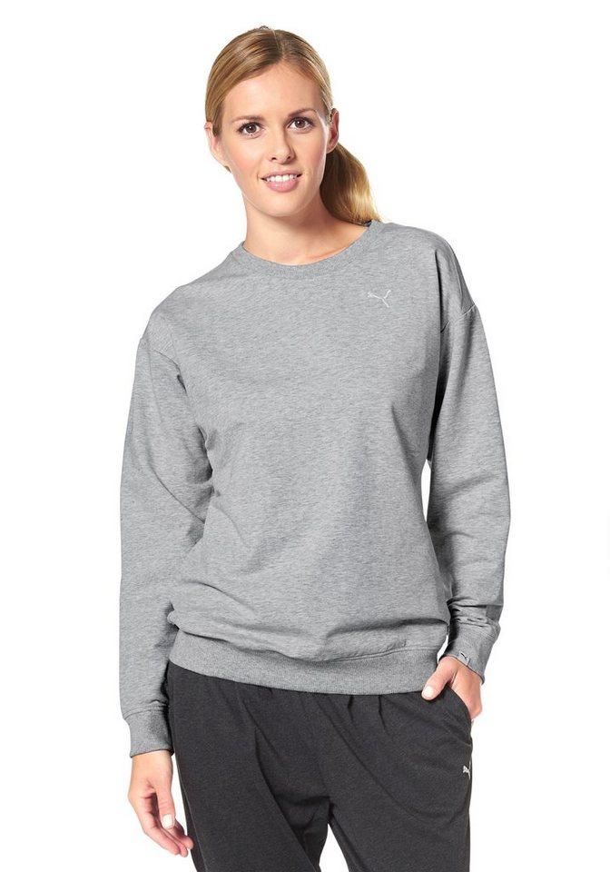 PUMA STYLE INJ SWAGGER CREW Sweatshirt, DryCell-Technologie in Grau-Meliert