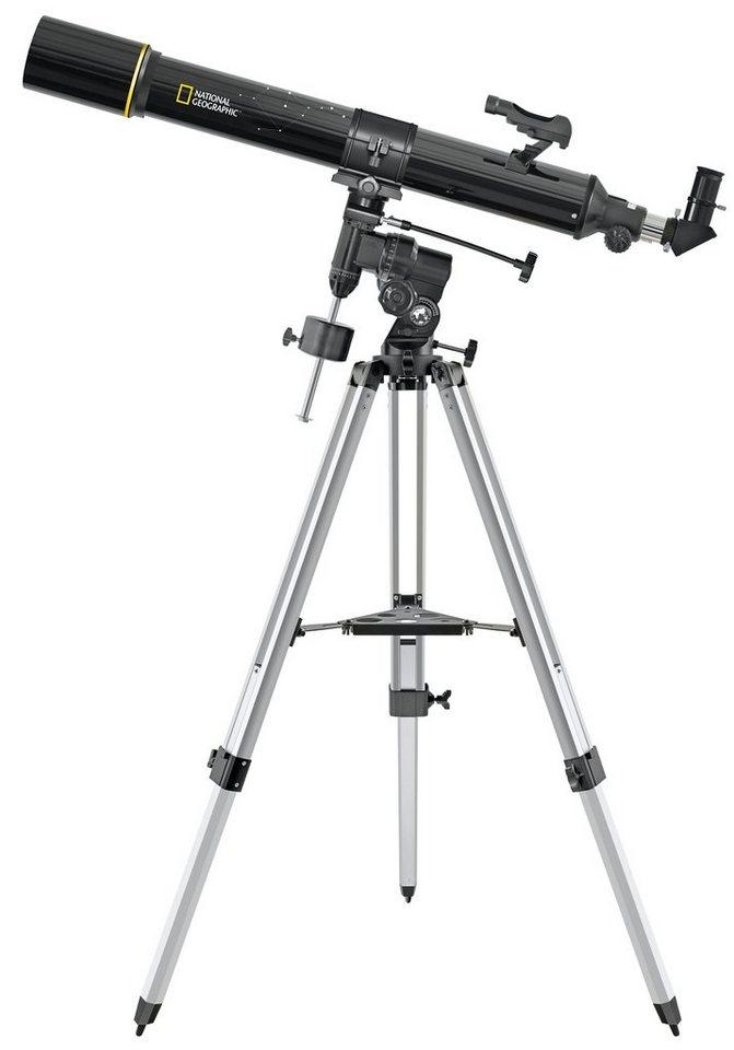 Bresser Teleskop »NATIONAL GEOGRAPHIC 90/900 Refraktor Teleskop EQ3«