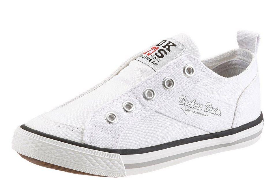 Dockers Sneaker zum Schlupfen in weiß