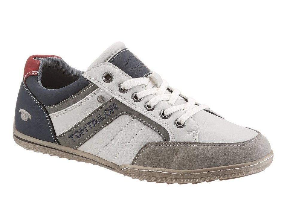Tom Tailor Sneaker mit Logo Stickerei in ice kombiniert