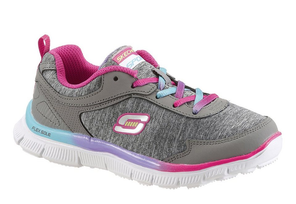 Skechers Kids Sneaker mit Memory Foam in grau-pink