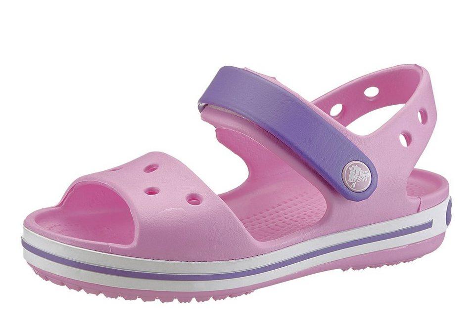 Crocs Sandale mit Klettverschluss in rosé