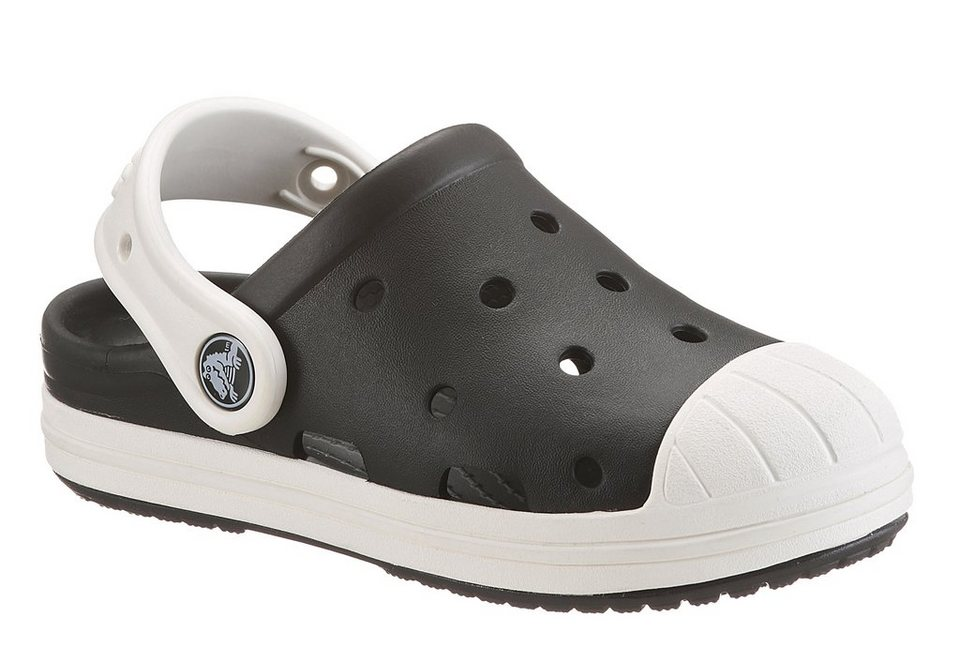 Crocs Clog im Retro-Sneaker-Look in schwarz-weiß