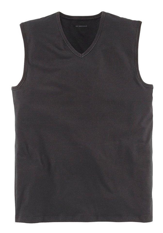 Mey Muskel-Shirt mit V-Ausschnitt aus der Serie »Dry Cotton« perfekte Passform Top Qualität in 1x schwarz