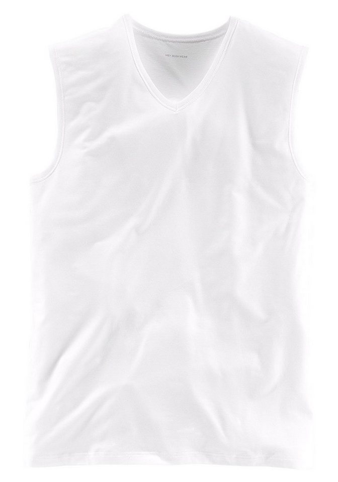 Mey Muskel-Shirt mit V-Ausschnitt aus der Serie »Dry Cotton« perfekte Passform Top Qualität in 1x weiß