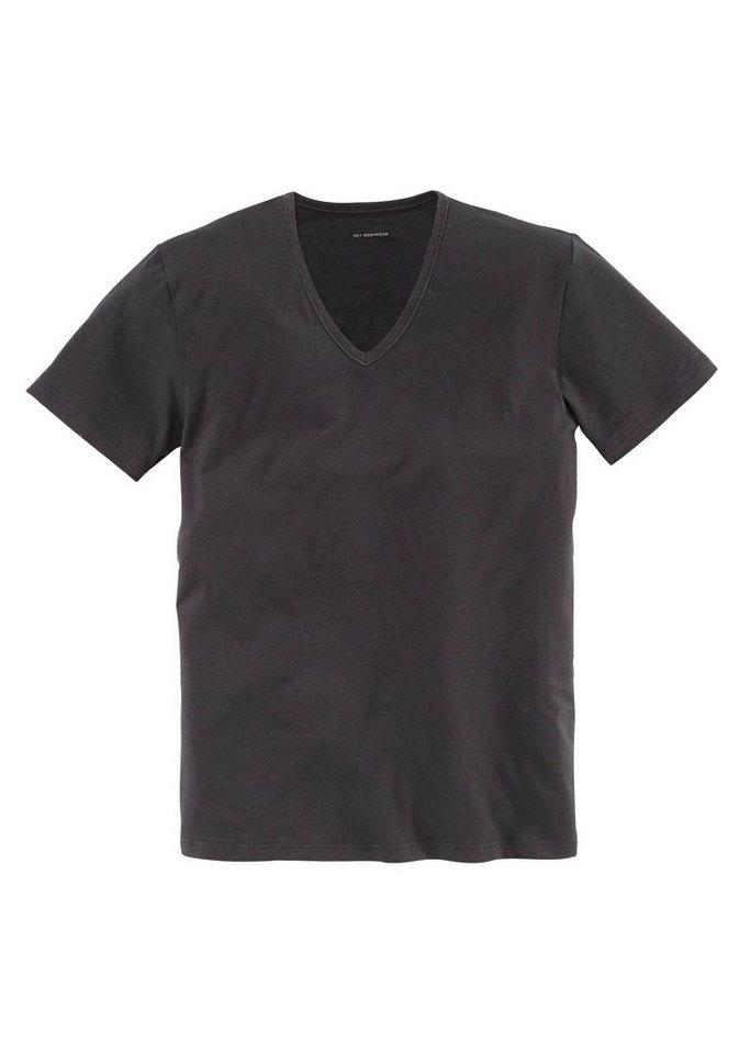 Mey T-Shirt mit V-Ausschnitt aus der Serie »Dry Cotton« ideal für jeden Tag in 1x schwarz
