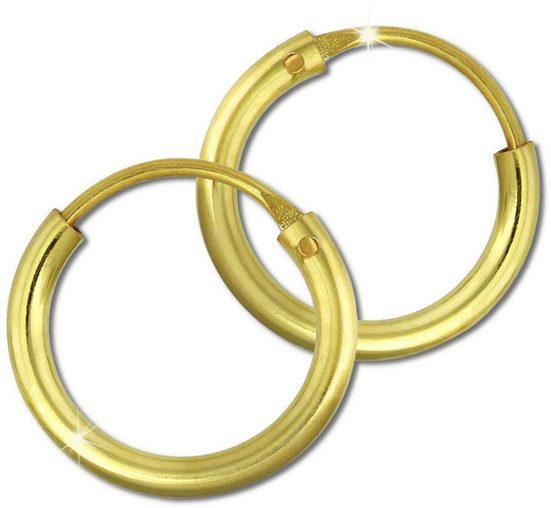 GoldDream Paar Creolen »GDO0020Y GoldDream Gold Ohrring Creolen 11mm« (Creolen), Damen Creolen aus 333 Gelbgold - 8 Karat, Farbe: gold