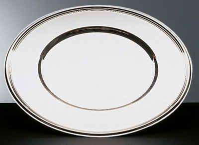 APS Platzteller, Edelstahl, Ø 33 cm, mit Fadendekor