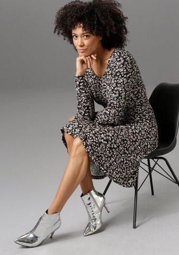 Aniston CASUAL Jerseykleid mit zartem Blumendruck - NEUE KOLLEKTION