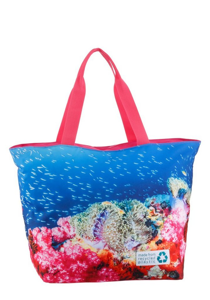 fabrizio® -  Strandtasche, made from recycled plastic