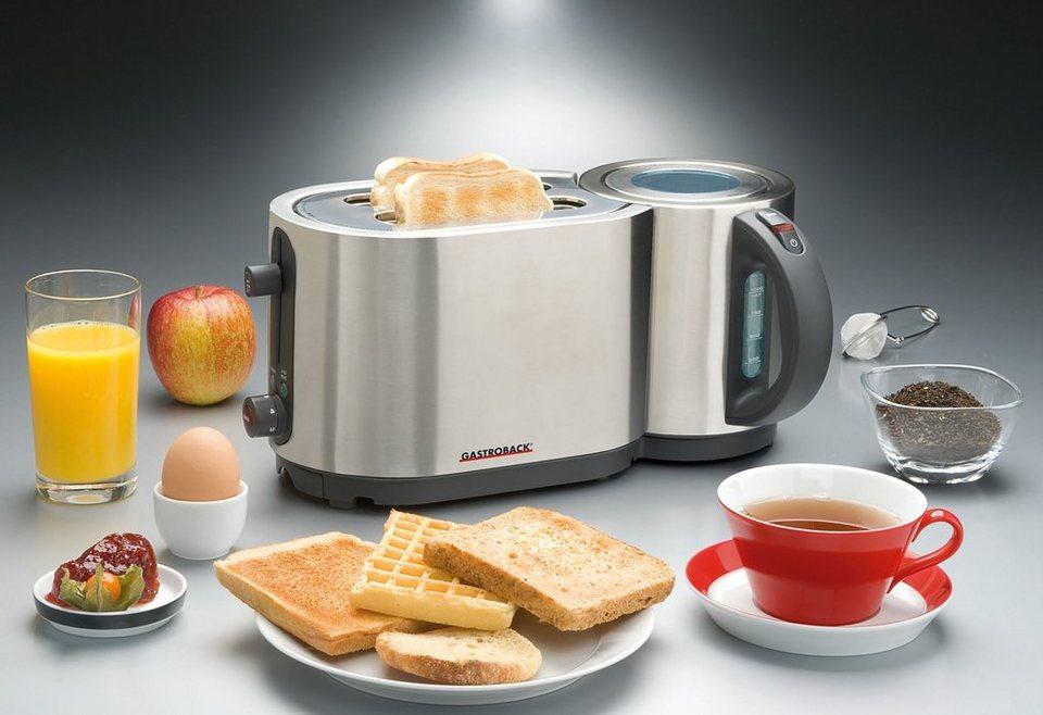 gastroback wasserkocher toaster design combo set je. Black Bedroom Furniture Sets. Home Design Ideas