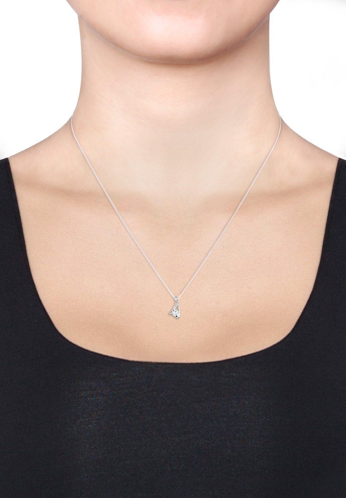 Halskette 925 »solitär Klassisch Silber« Online Elli Zirkonia Kaufen Y76bgfyv
