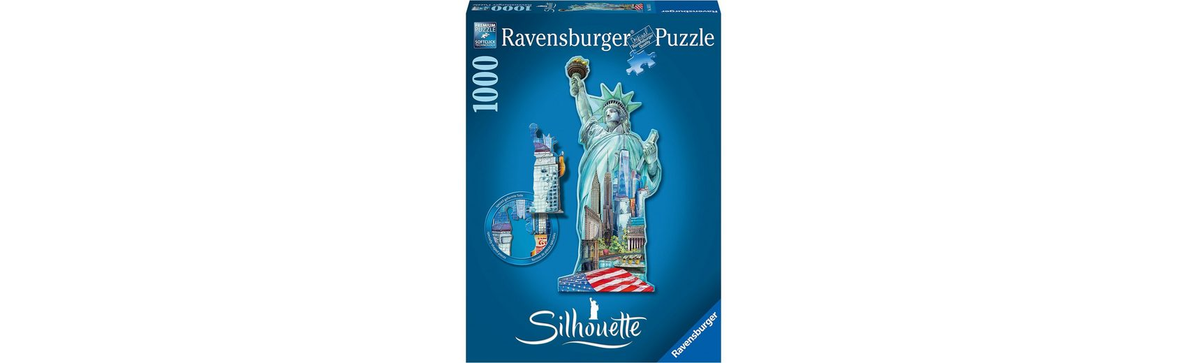 Ravensburger Puzzle Freiheitsstatue Silhouette Puzzles 1000 Teile