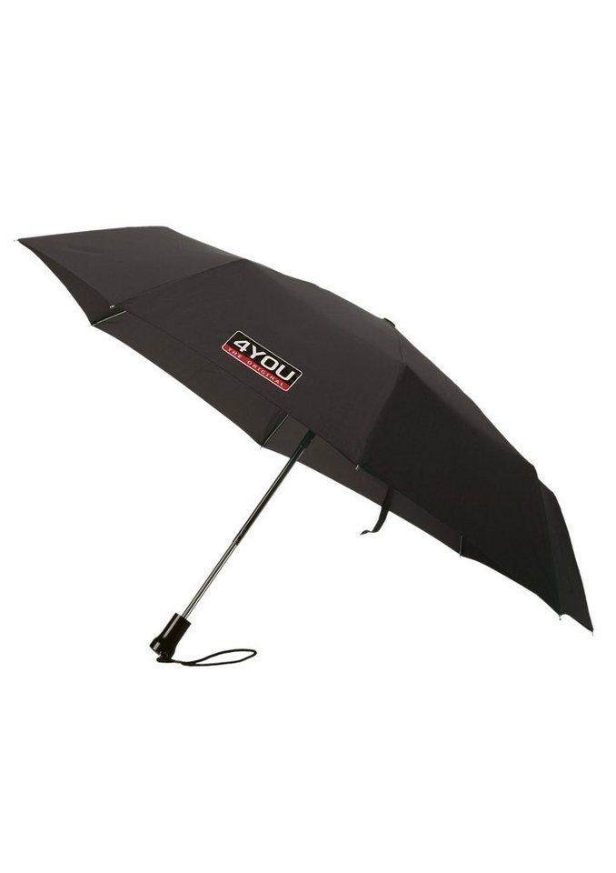 4YOU Regenschirm für Schule und Freizeit, »Kinder Taschenschirm Basic« in schwarz