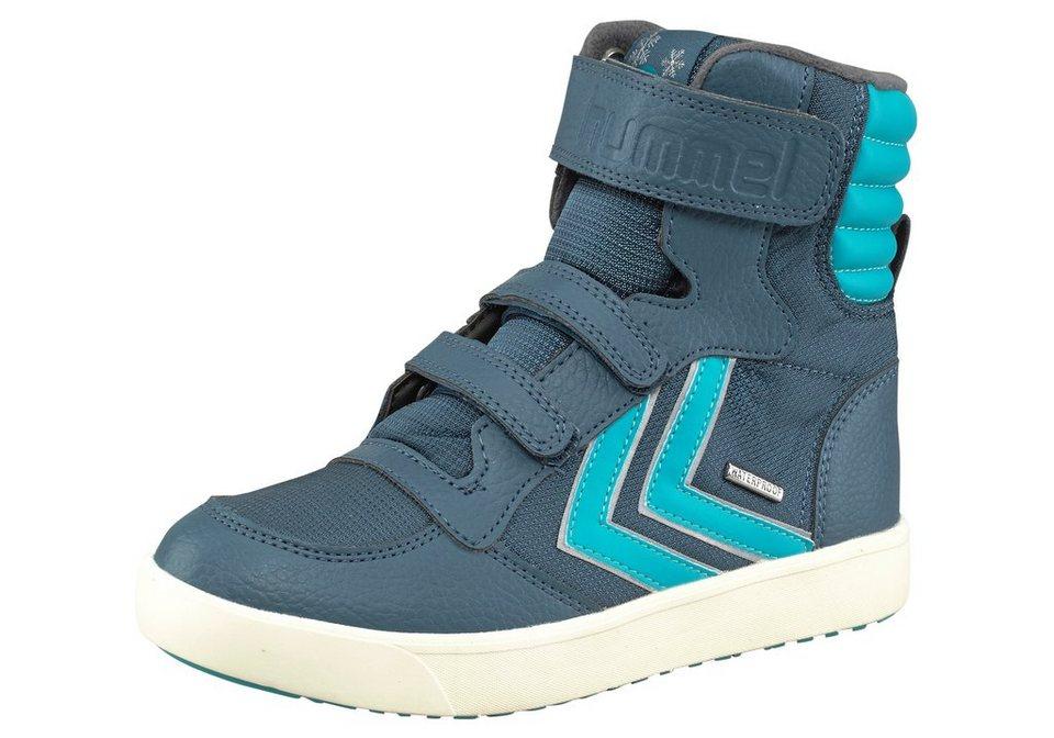 Hummel Stadil Super Hi Poly JR Sneaker in Rauchblau-Hellblau