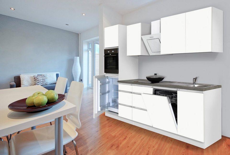 Küchenzeile mit E-Geräten »Boston«, Breite 280 cm in weiß