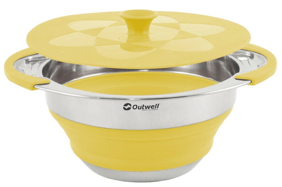 Outwell Camping-Geschirr »Collaps Pot with lid 2500ml« in gelb