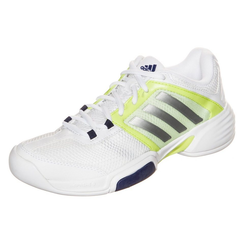adidas Performance Barricade Team 4 Carpet Tennisschuh Damen in weiß / silber
