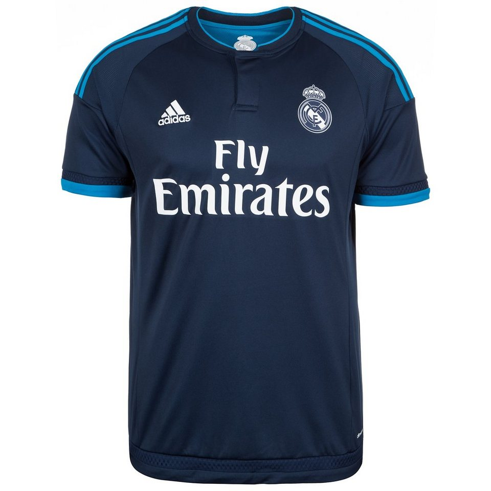 adidas Performance Real Madrid Trikot 3rd 2015/2016 Herren in dunkelblau / hellbla