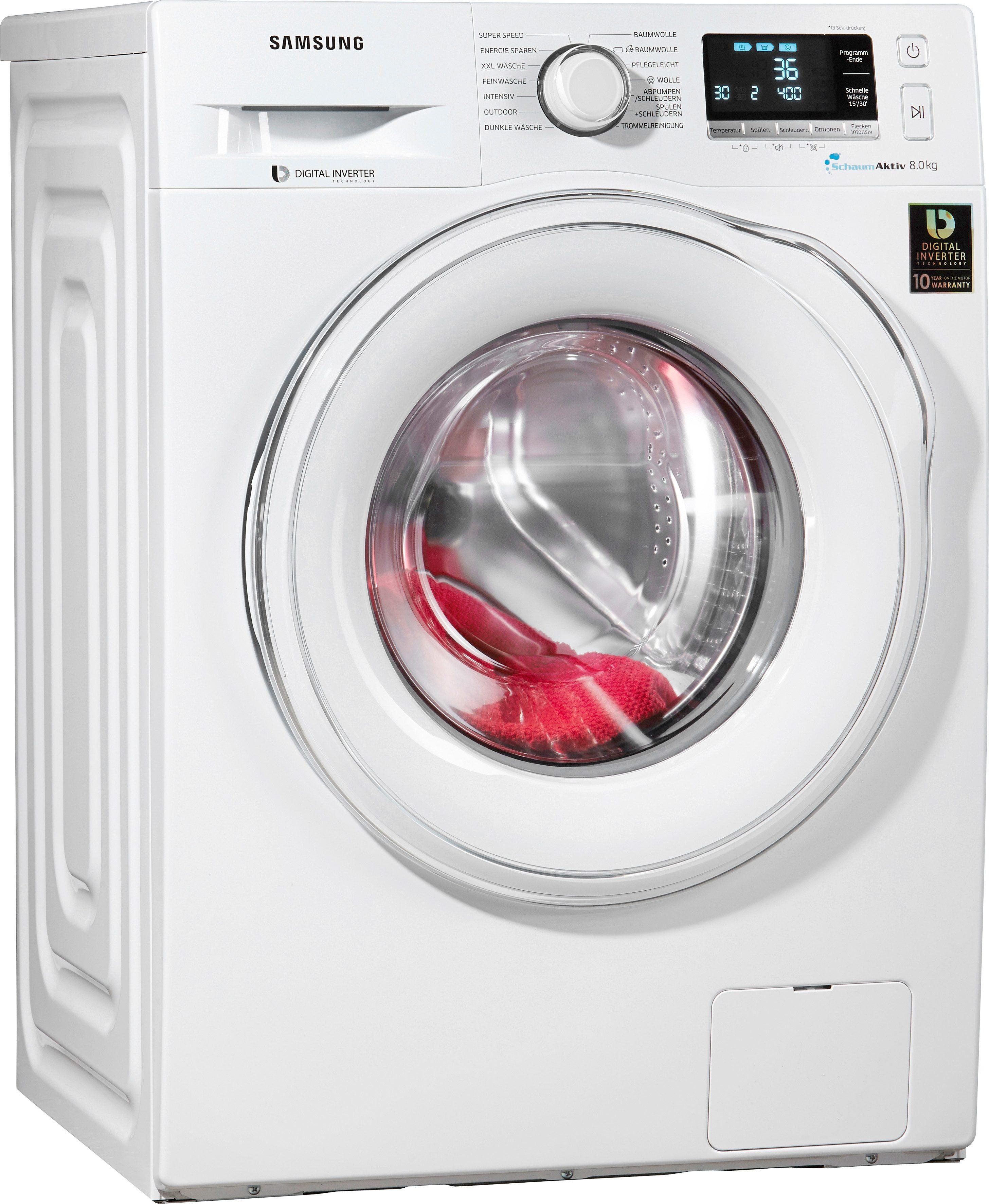 Samsung Waschmaschine WW81J6400EW/EG, A+++, 8 kg, 1400 U/Min