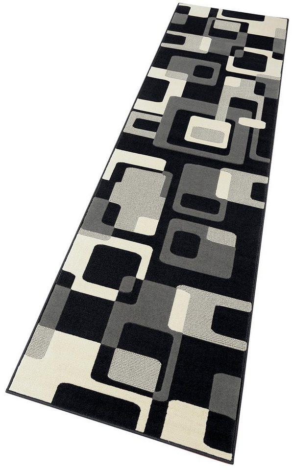 Läufer »Tiznit«, Hanse Home, rechteckig, Höhe 9 mm, Retro Design in schwarz