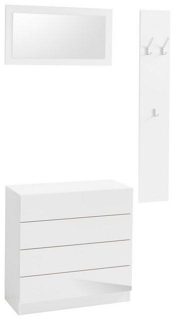 Garderoben Sets - borchardt Möbel Garderoben Set »Vaasa 3«, (Set, 3 tlg), mit Push to Open Funktion  - Onlineshop OTTO