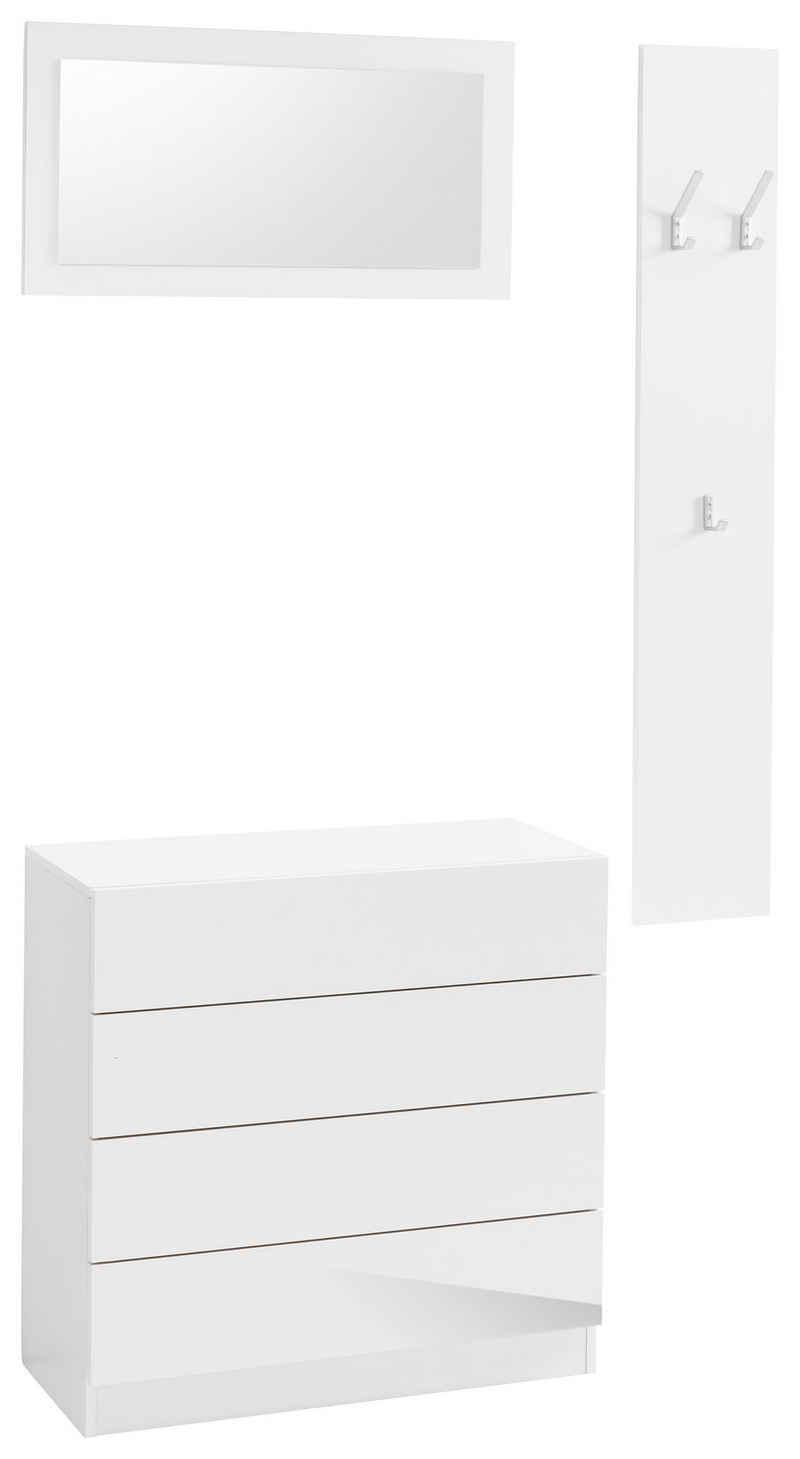 borchardt Möbel Garderoben-Set »Vaasa 3«, (Set, 3-St), mit Push to Open-Funktion