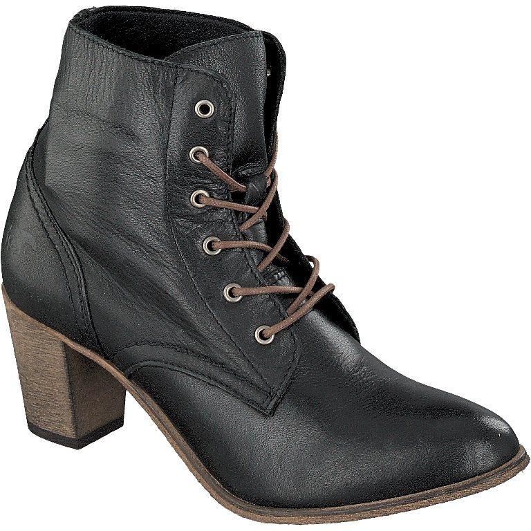 MUSTANG SHOES Schnür-Stiefelette in schwarz