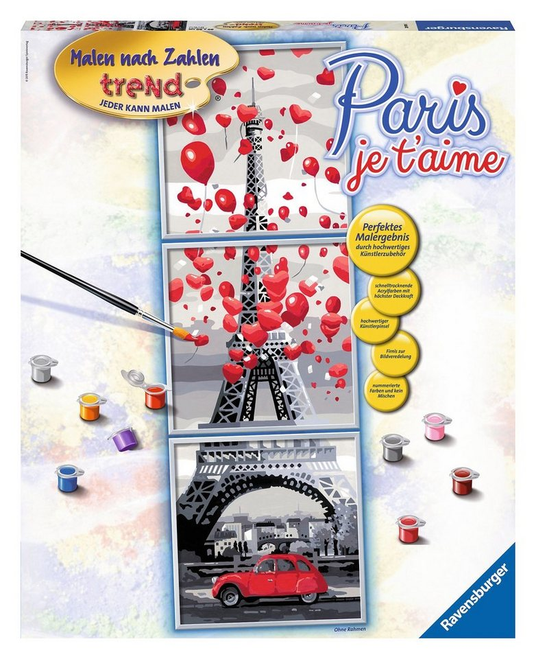 Ravensburger Malen nach Zahlen, »Sonderserie, Paris je taime«