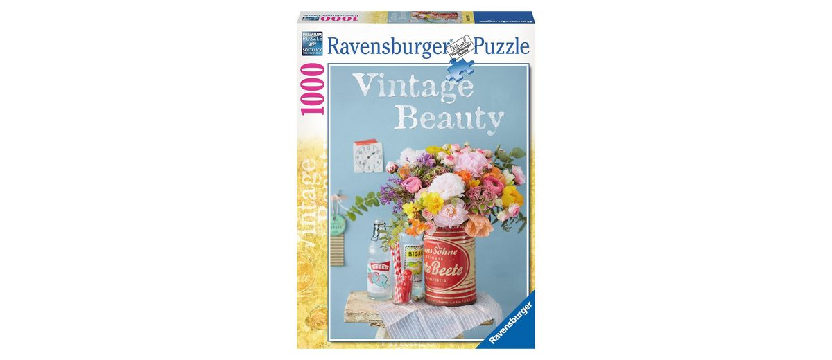 Ravensburger Puzzle, 1000 Teile, »Vintageblumen«