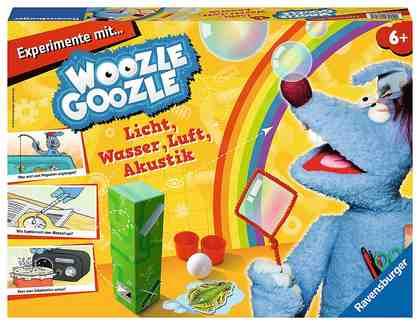 Ravensburger Experimentierkasten, »Woozle Goozle - Experimente mit Licht, Wasser, Luft«