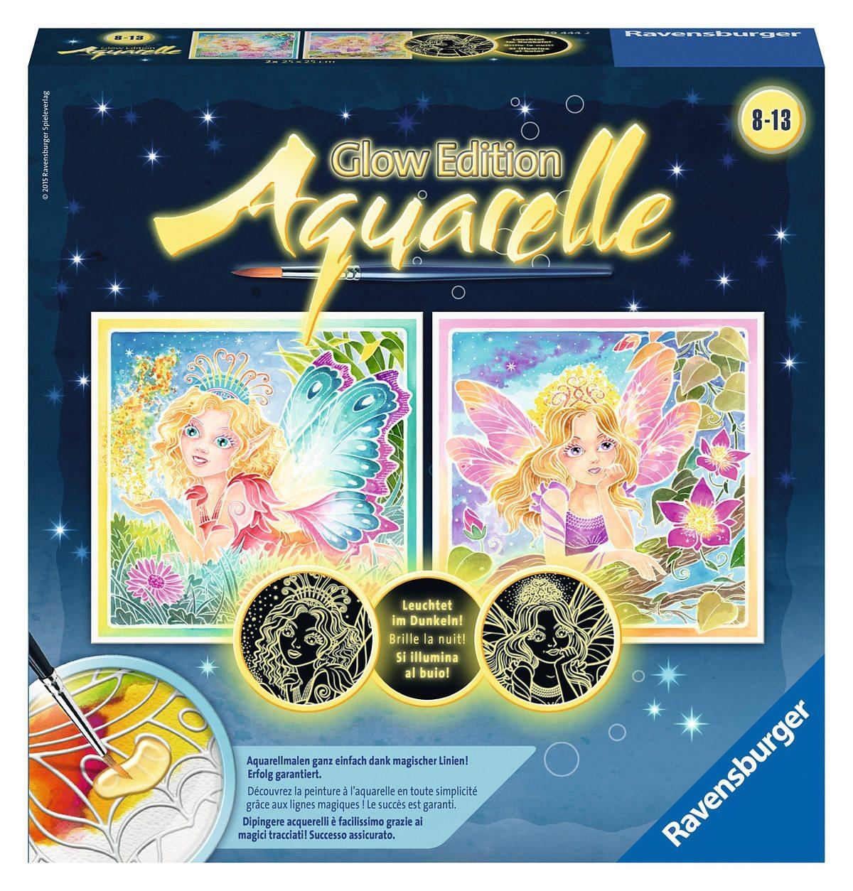 Ravensburger Aquarelle, »Glow Edition - Elfenzauber«