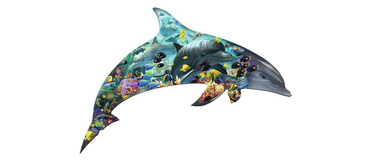 Ravensburger Puzzle, 1000 Teile, »Silhouette - Delfinwelt«