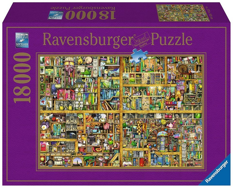 ravensburger puzzle 18000 teile magisches b cherregal xxl online kaufen otto. Black Bedroom Furniture Sets. Home Design Ideas