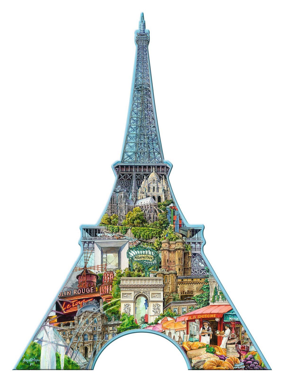 Ravensburger Puzzle, 1000 Teile, »Silhouette - Eiffelturm, Paris«