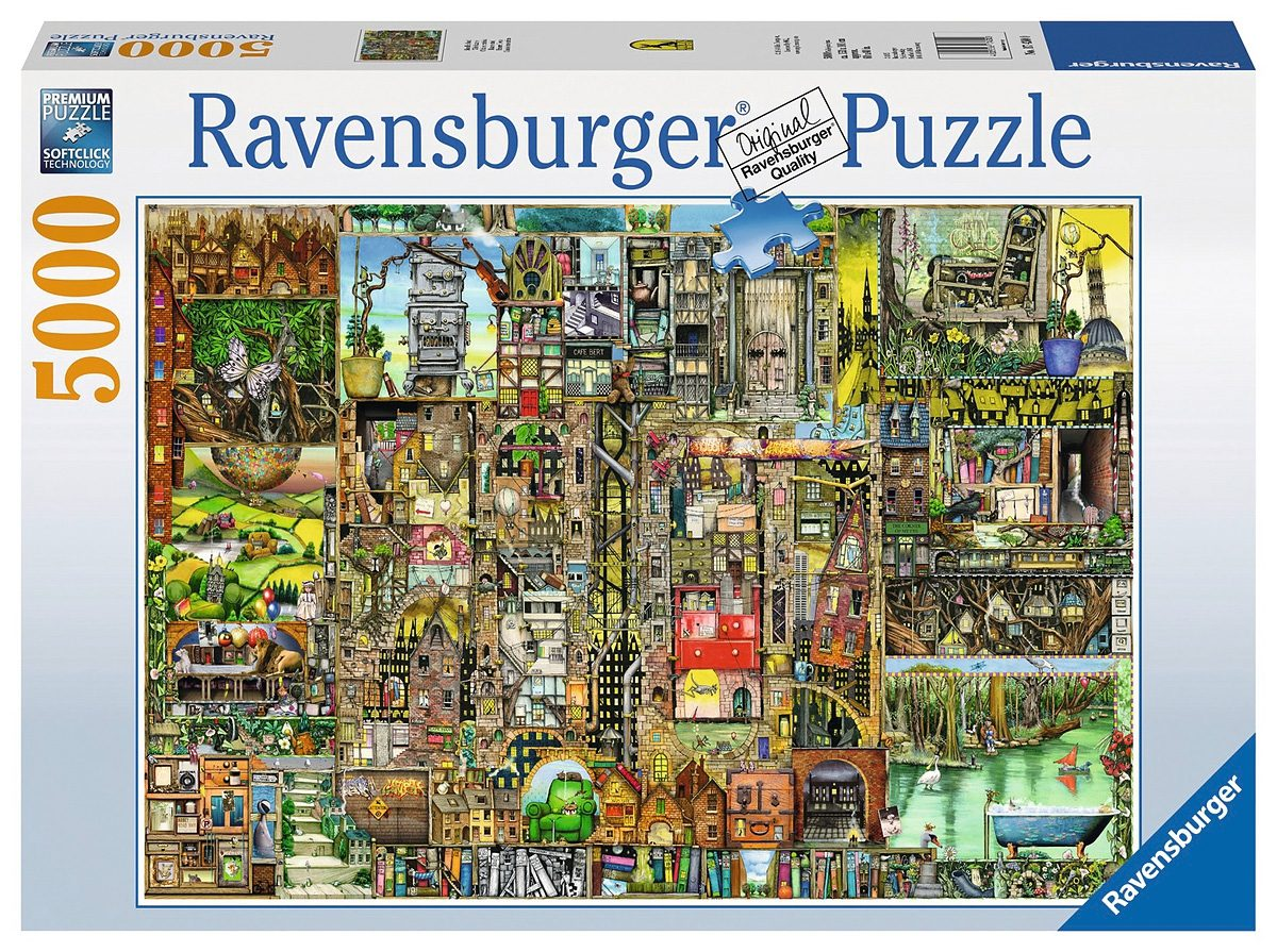 Ravensburger Puzzle, 5000 Teile, »Skurrile Stadt«